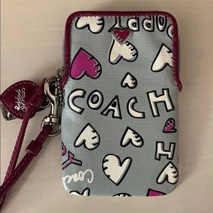 Coach Poppy Wristlet